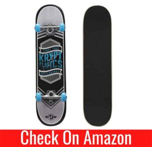 kryptonics drop-in series 31 inch complete skateboard